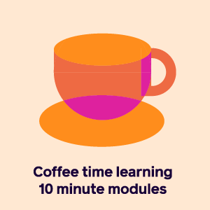 Coffee time briefing icon and link